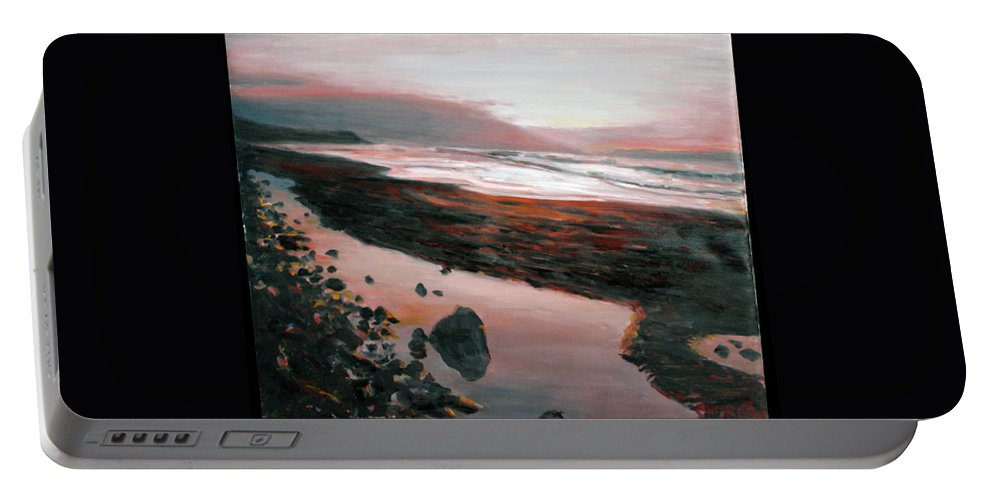 Landscape Portable Battery Charger featuring the painting Ireland by Pablo de Choros
