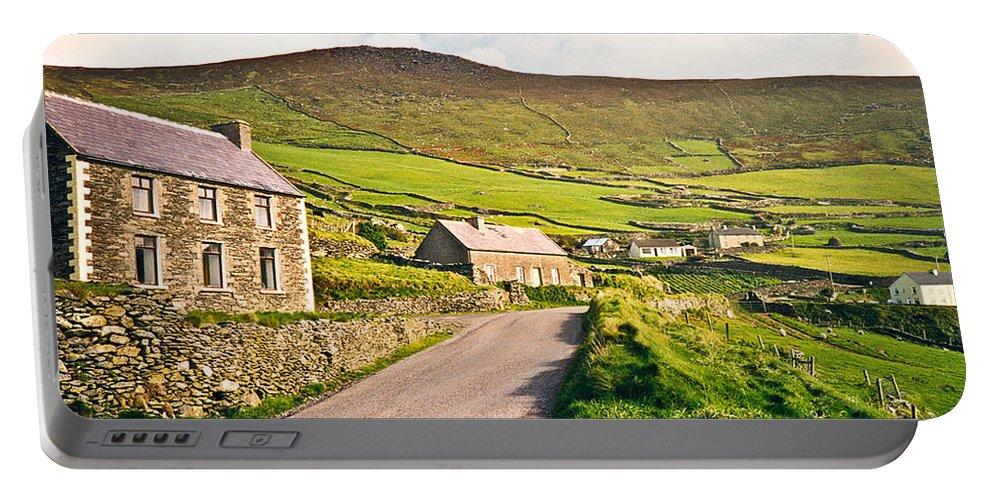 Ireland Portable Battery Charger featuring the photograph Ireland Farmland by Douglas Barnett