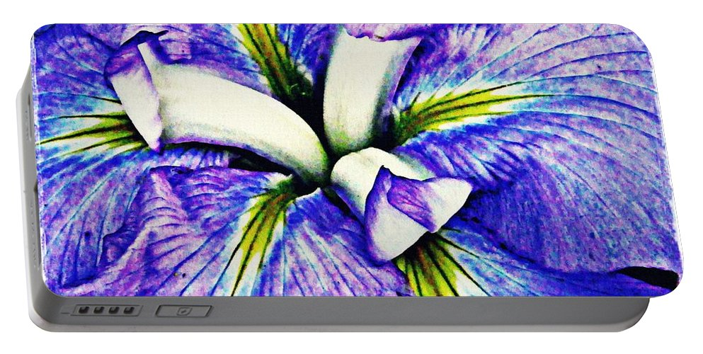 Iris Portable Battery Charger featuring the photograph Iris 12 by Sarah Loft