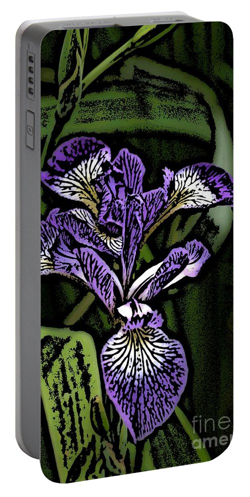 Digital Photograph Portable Battery Charger featuring the photograph Iris by David Lane