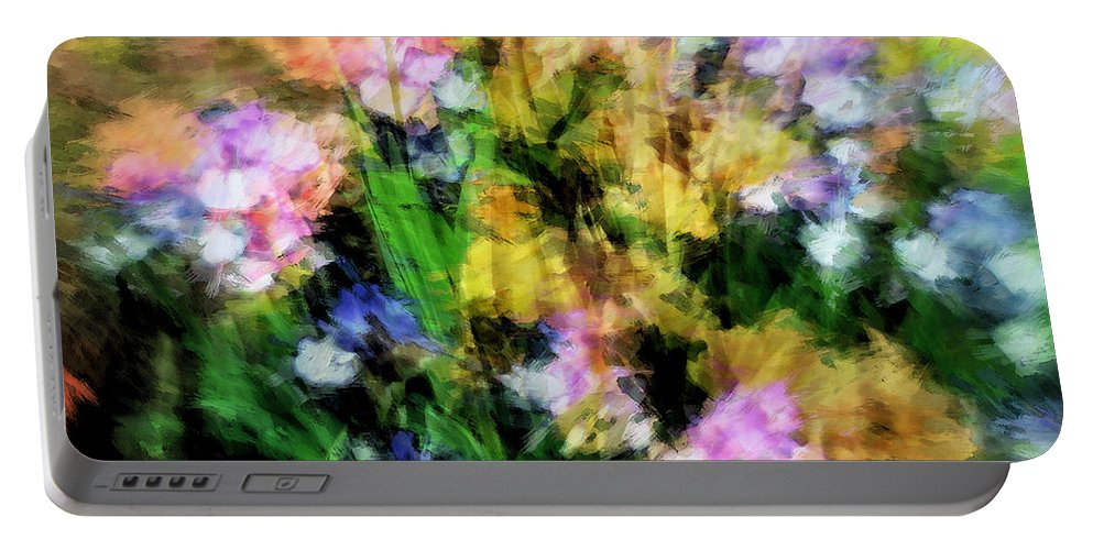 Iris Portable Battery Charger featuring the photograph Iris Fantasy by Don Zawadiwsky