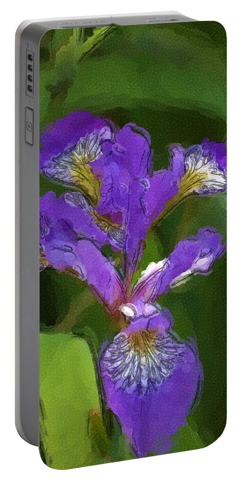 Digital Photograph Portable Battery Charger featuring the photograph Iris II by David Lane