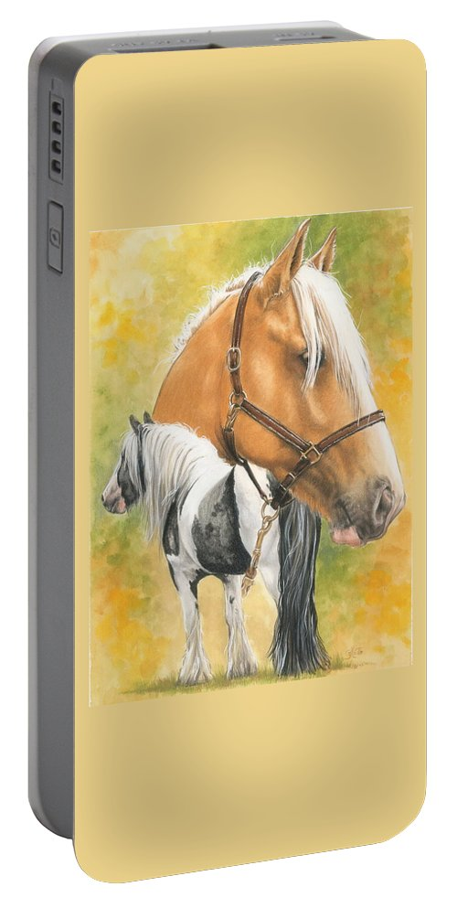 Draft Horse Portable Battery Charger featuring the mixed media Irish Cob by Barbara Keith