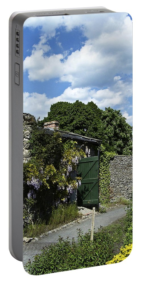 Irish Portable Battery Charger featuring the photograph Irish Garden County Clare by Teresa Mucha
