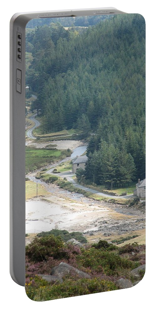 Ireland Portable Battery Charger featuring the photograph Irish Valley by Kelly Mezzapelle