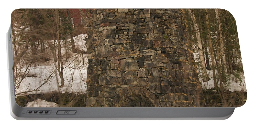 iron Furnace Portable Battery Charger featuring the photograph Iron Furnace by Paul Mangold