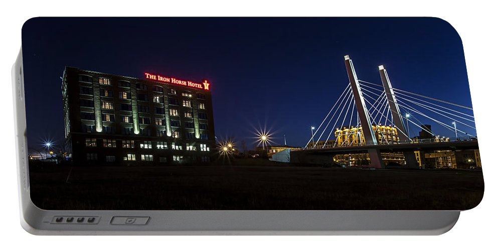 Www.cjschmit.com Portable Battery Charger featuring the photograph Iron Viaduct by CJ Schmit
