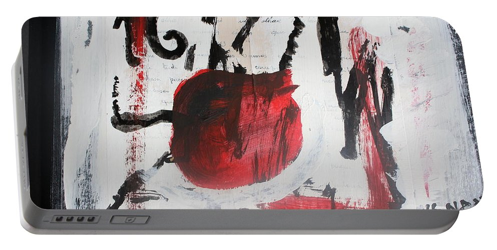 Mixed Media Portable Battery Charger featuring the painting Is Not Him by Carmem Gusmao