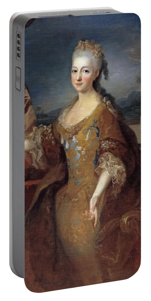 Jean Ranc Portable Battery Charger featuring the painting Isabella Louise Of Orleans. Queen Of Spain by Jean Ranc
