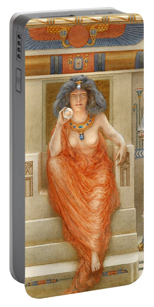 Armand Point Portable Battery Charger featuring the painting Isis by Armand Point