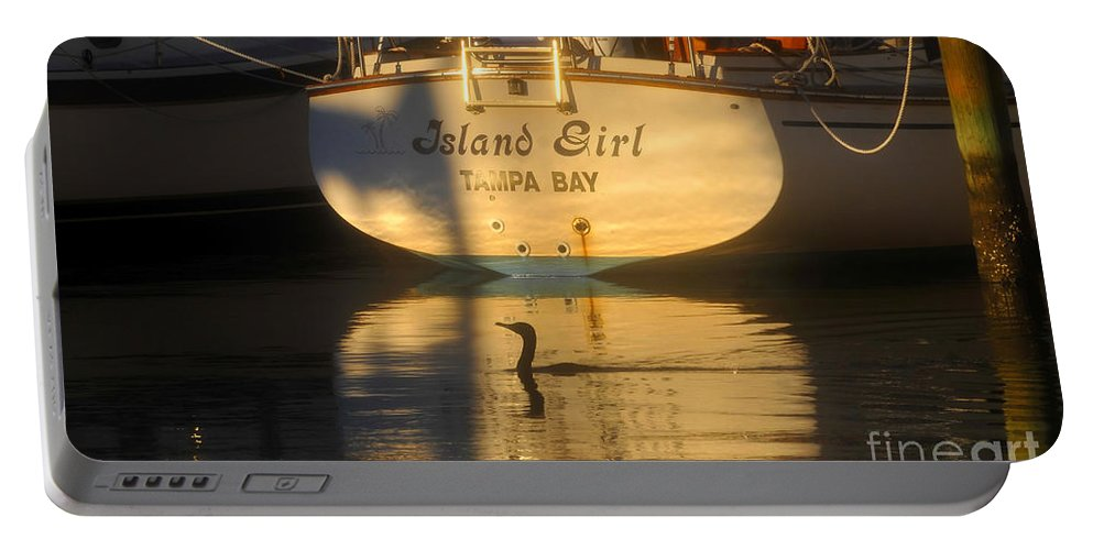 Sailing Boat Portable Battery Charger featuring the photograph Island Girl by David Lee Thompson
