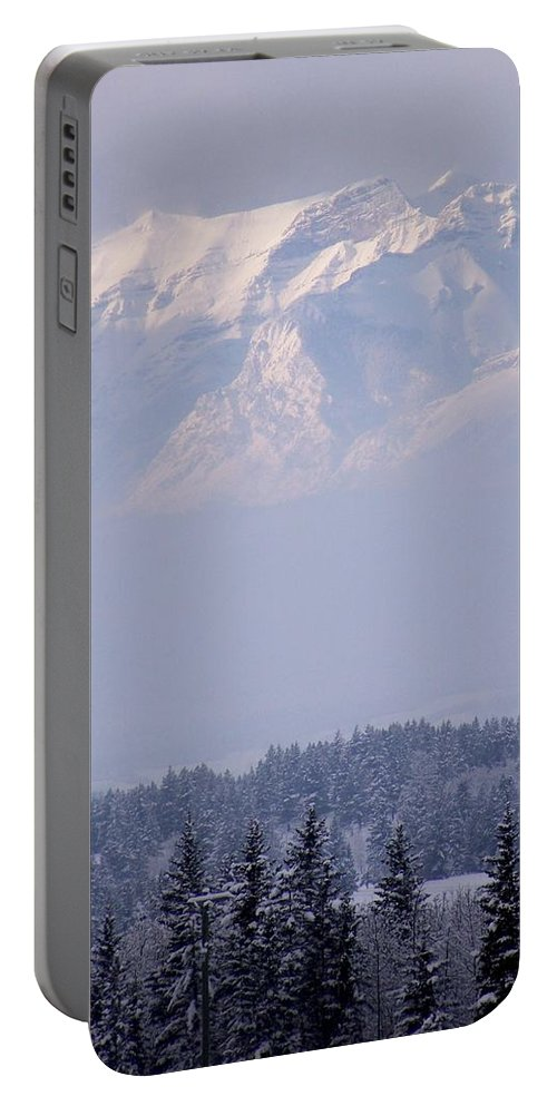 Layers Portable Battery Charger featuring the photograph Island In The Sky by Greg Hammond