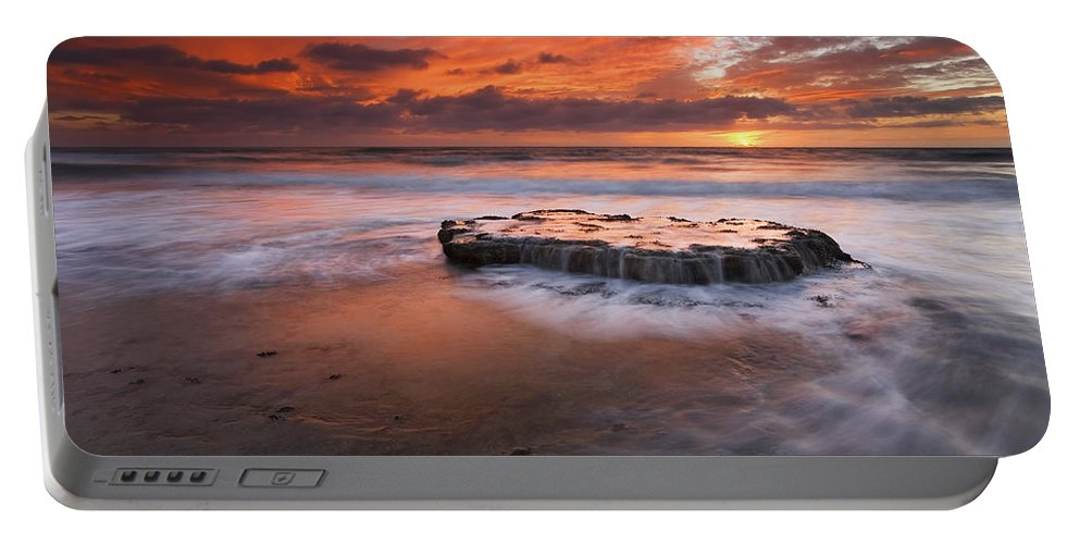 Island Portable Battery Charger featuring the photograph Island In The Storm by Mike Dawson