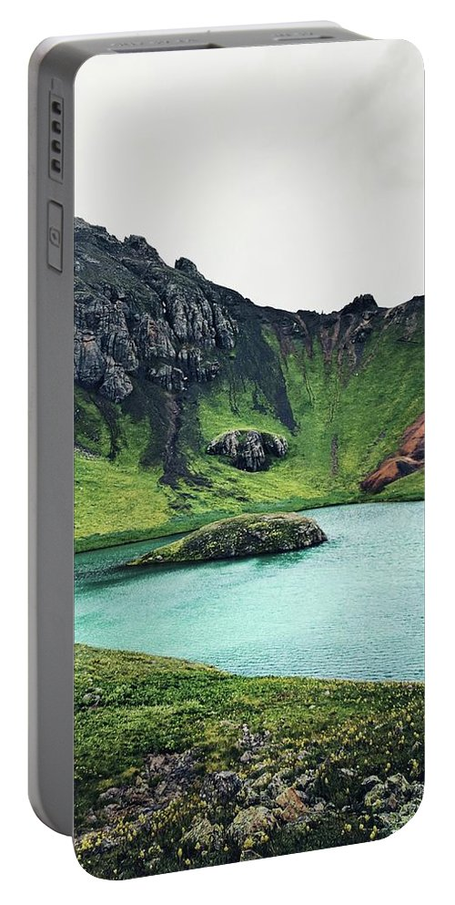 Island Lake Portable Battery Charger featuring the photograph Island Lake by Kristina Jenson