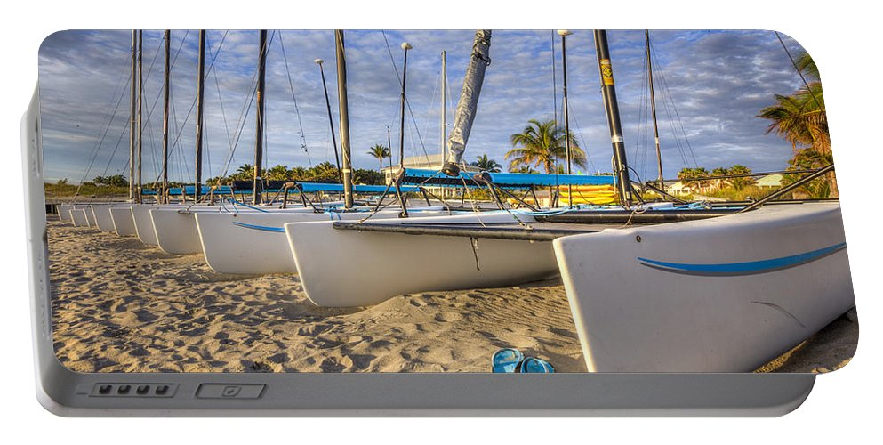 Atlantic Portable Battery Charger featuring the photograph Island Mood by Debra and Dave Vanderlaan