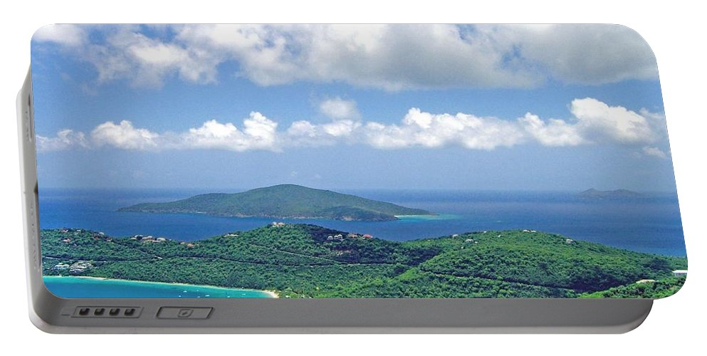 St. Thomas Portable Battery Charger featuring the photograph Island Paradise by Gary Wonning