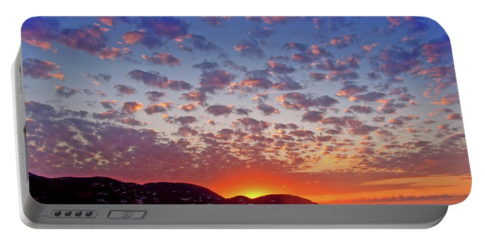 Island Portable Battery Charger featuring the photograph Island Sunrise by Scott Mahon