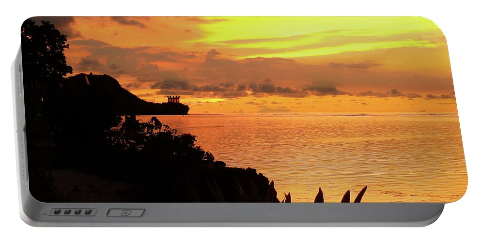 Island Sunset Portable Battery Charger featuring the photograph Island Sunset by Scott Cameron