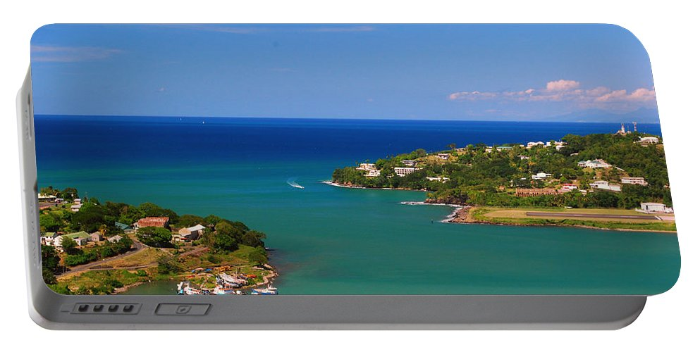 St. Lucia Portable Battery Charger featuring the photograph Islands In The Stream by Gary Wonning