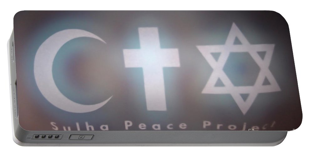 Peace Portable Battery Charger featuring the photograph Israel Palestinian Cooperation by Chen Leopold
