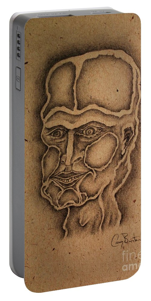 Face Portable Battery Charger featuring the drawing It Is Time To Make A Decision by Casey Burton