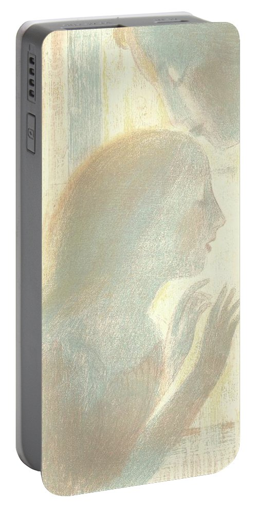 It Was A Religious Mystery (ce Fut Un Religieux Myst�re) Maurice Denis (1870 - 1943) Portable Battery Charger featuring the painting It Was A Religious Mystery by MotionAge Designs