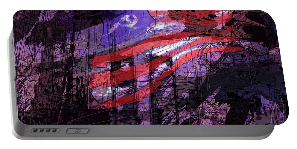 Political Portable Battery Charger featuring the digital art It Was Only A Dream . . . by Rachel Christine Nowicki
