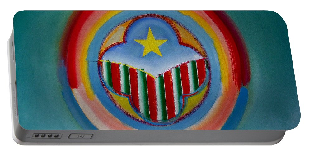 Button Portable Battery Charger featuring the painting Italian American by Charles Stuart
