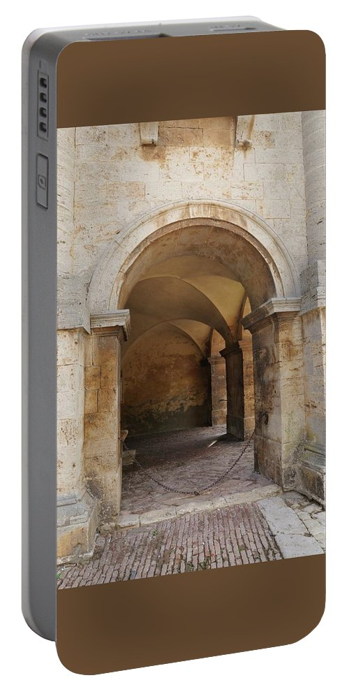 Europe Portable Battery Charger featuring the photograph Italy - Door Sixteen by Jim Benest