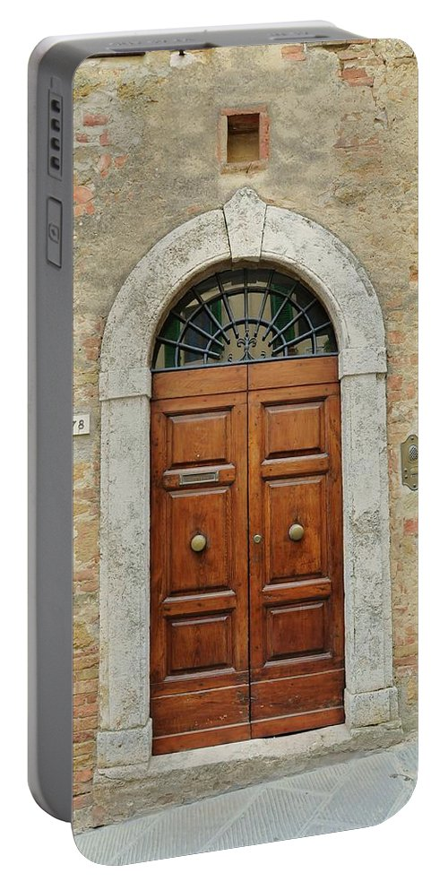 Europe Portable Battery Charger featuring the photograph Italy - Door Twelve by Jim Benest