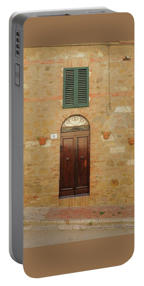 Europe Portable Battery Charger featuring the photograph Italy - Door Twenty One by Jim Benest