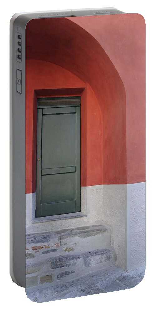 Europe Portable Battery Charger featuring the photograph Italy - Door Two by Jim Benest