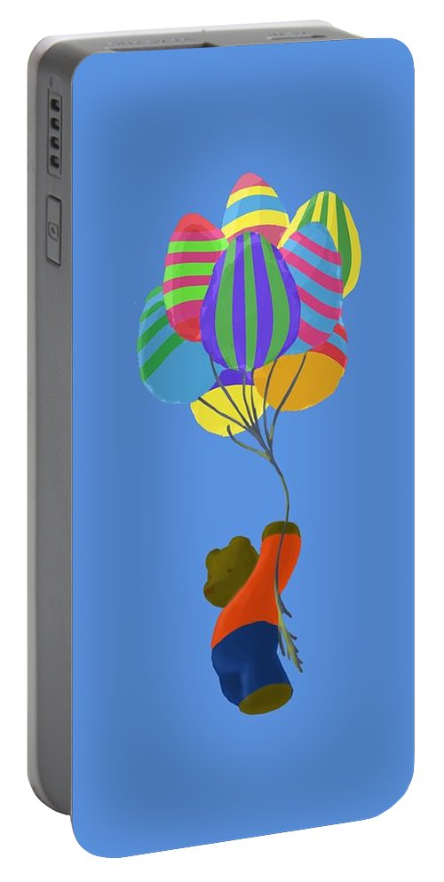 Easter Portable Battery Charger featuring the painting It's A Bird, It's A Plane, It's Easter by Jason Sharpe