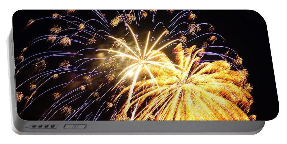 4th Of July Portable Battery Charger featuring the photograph It's A Celebration by Beth Collins