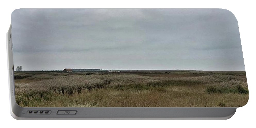 Natureonly Portable Battery Charger featuring the photograph It's A Grey Day In North Norfolk Today by John Edwards