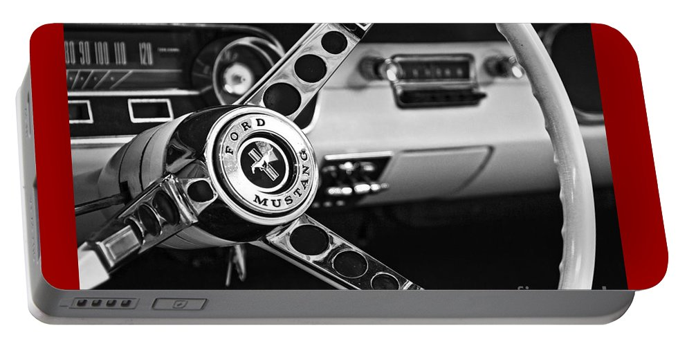 Ford Mustang Portable Battery Charger featuring the photograph It's A Stang Thing by Betty Doran