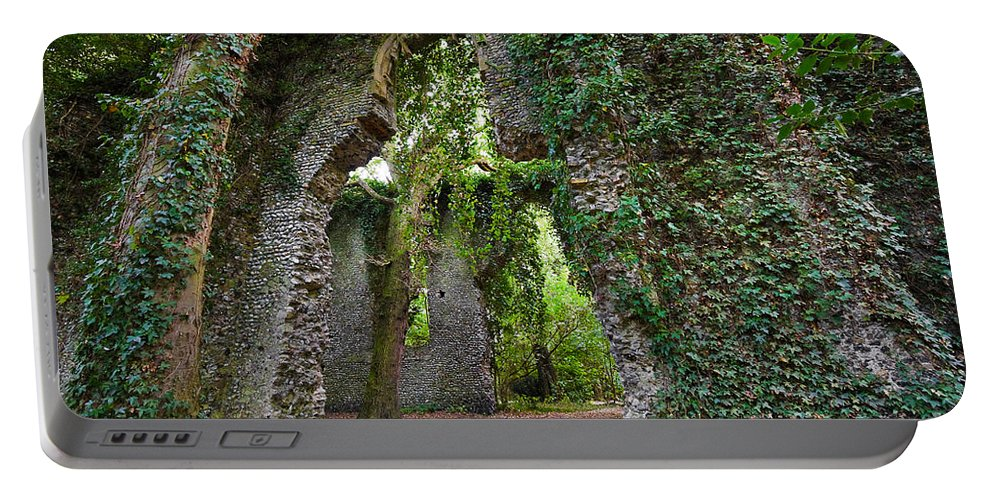 Travel Portable Battery Charger featuring the photograph Ivy Clad Ruin by Louise Heusinkveld