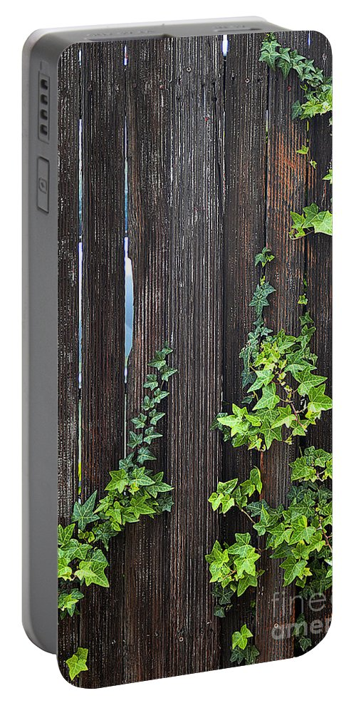 Clay Portable Battery Charger featuring the photograph Ivy On Fence by Clayton Bruster