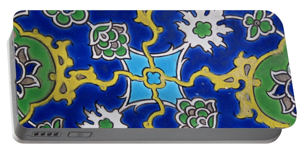Iznik Tiles. 16th Portable Battery Charger featuring the photograph Iznik Tiles In Topkapi Palace Istanbul by Gonul Engin YILMAZ