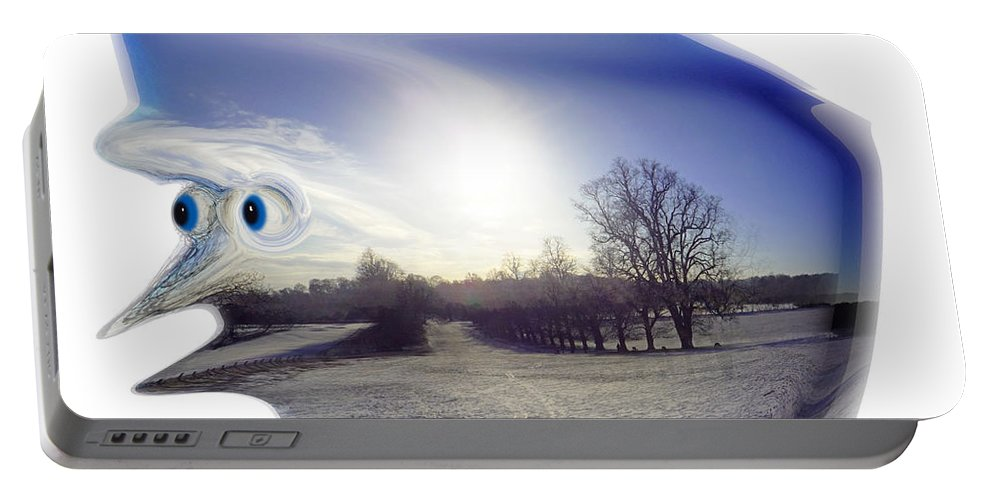 Face Portable Battery Charger featuring the photograph Jack Frost by Charles Stuart