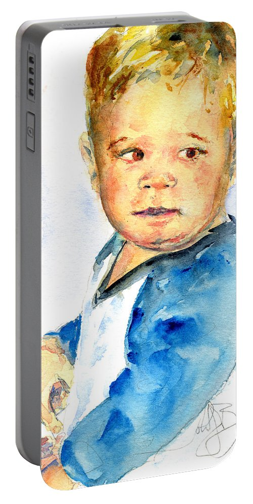Portrait Portable Battery Charger featuring the painting Jack by John D Benson