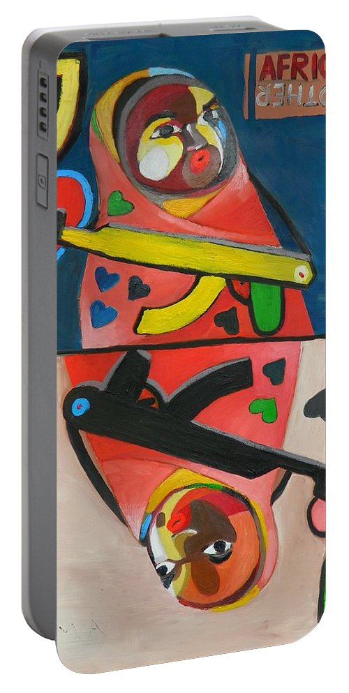 Jack Portable Battery Charger featuring the painting Jack by Moma Bjekovic