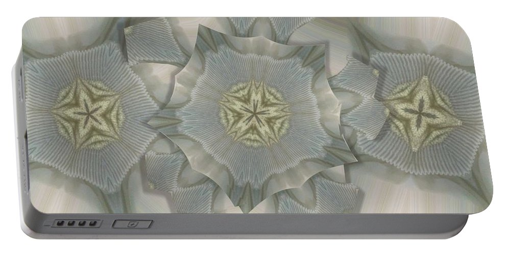 Collage Portable Battery Charger featuring the photograph Jacket Flowers by Ron Bissett