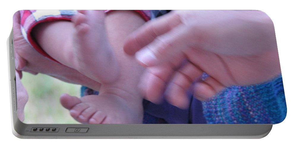 Feet Portable Battery Charger featuring the photograph Jack's Feet by Kelly Mezzapelle