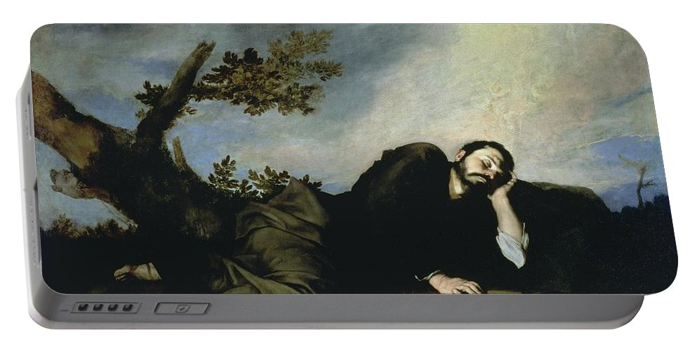 Jacob's Dream Portable Battery Charger featuring the painting Jacobs Dream by Jusepe de Ribera