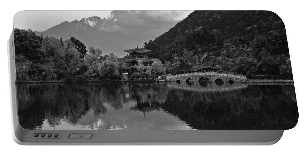 Asia Portable Battery Charger featuring the photograph Jade Dragon Snow Mountain by Michele Burgess