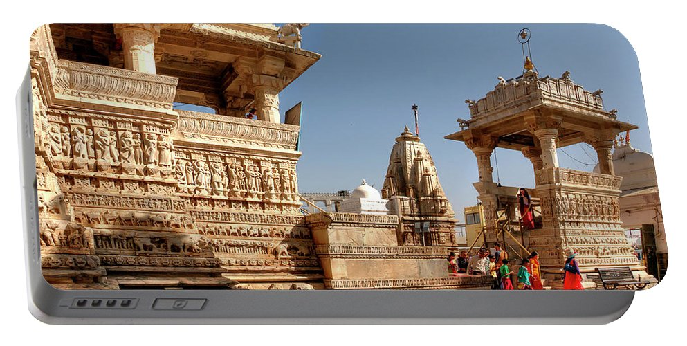Jagdish Temple Portable Battery Charger featuring the photograph Jagdish Hindu Temple, Udaipur by Doug Matthews
