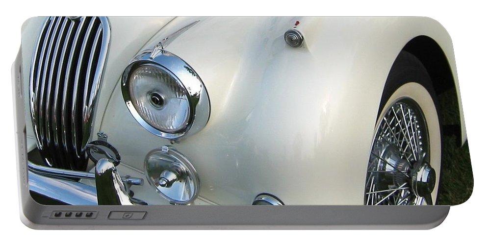 Jaguar Portable Battery Charger featuring the photograph Jaguar Xk150 by Neil Zimmerman