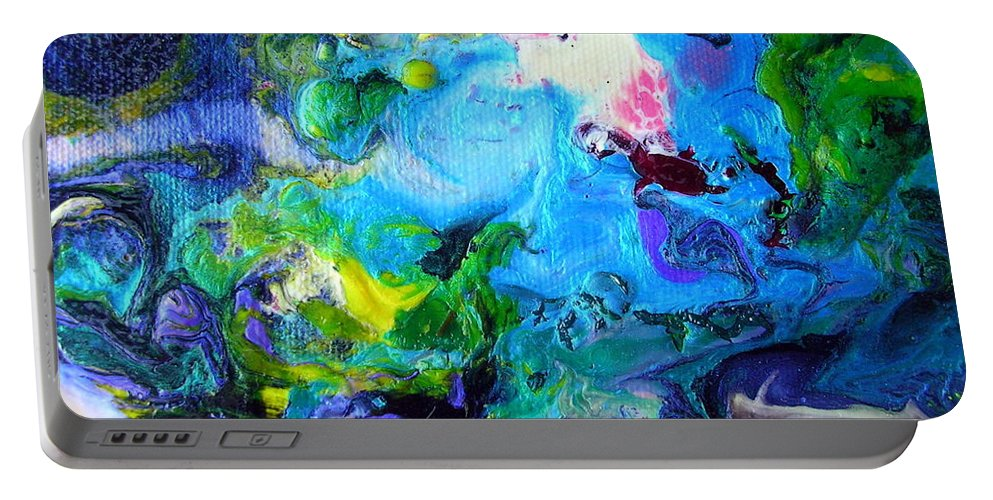 Art Portable Battery Charger featuring the painting Jamaica Nights by Dawn Hough Sebaugh