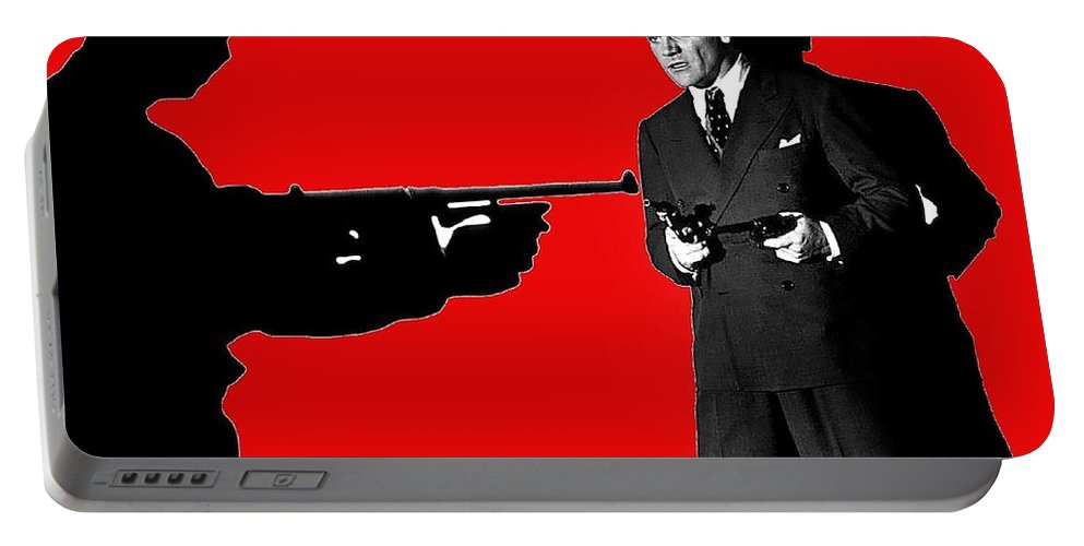 James Cagney As Gangster Rocky Sullivan In Angel's With Dirty Faces 1938-2008 Portable Battery Charger featuring the photograph James Cagney As Gangster Rocky Sullivan In Angels With Dirty Faces 1938-2008 by David Lee Guss